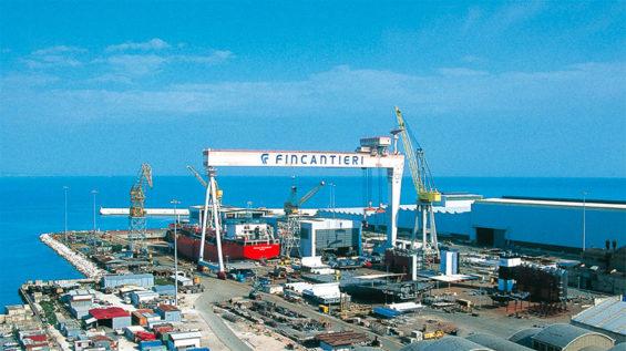 A Fincantieri shipyard in Ancona, Italy.