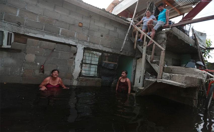 A flooded home in Centla, Tabasco.