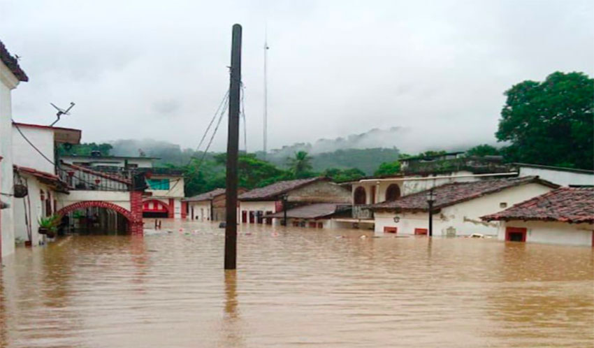 Las Choapas in southern Veracruz is one of the areas that has been hit hard by the heavy rains.