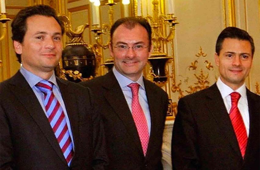 Peña Nieto, right, allegedly led bribery scheme involving Lozoya, left, and Videgaray.