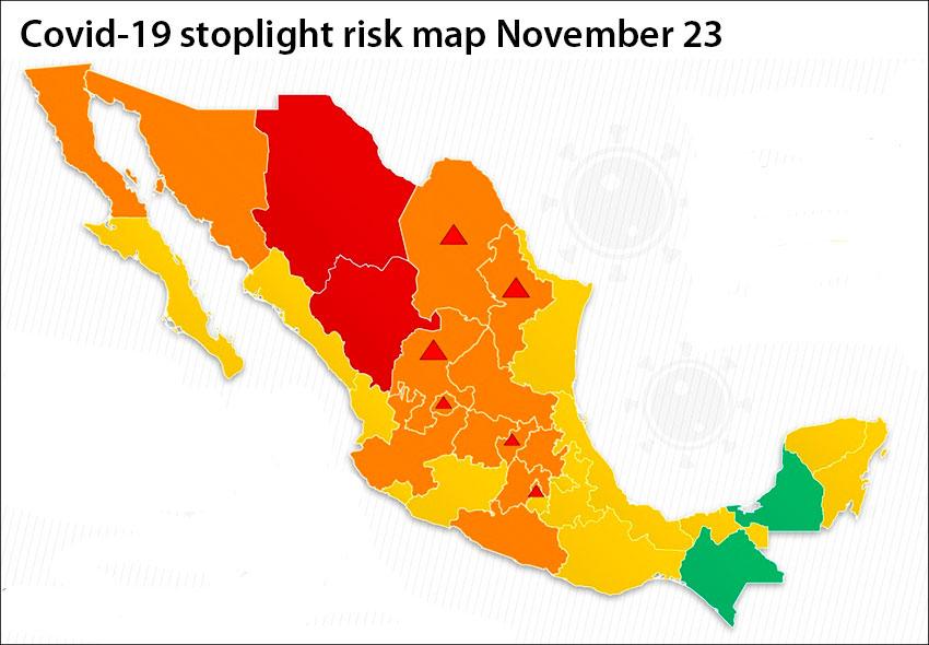 coronavirus stoplight map