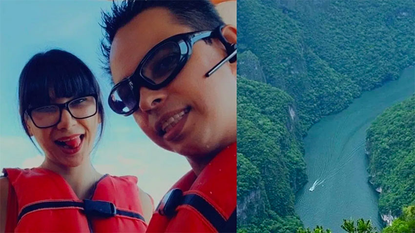 Two of the actors who enjoyed a sexual excursion in the Sumidero Canyon last week.