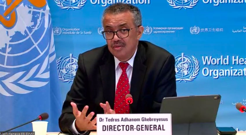 WHO director-general Tedros said the situation in Mexico was 'worrying.'