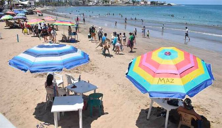 Eight out of 10 tourists in Mazatlán were Mexican.