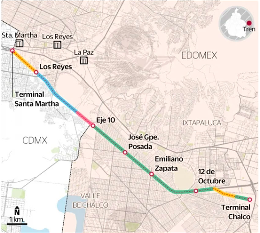 Route of the new train