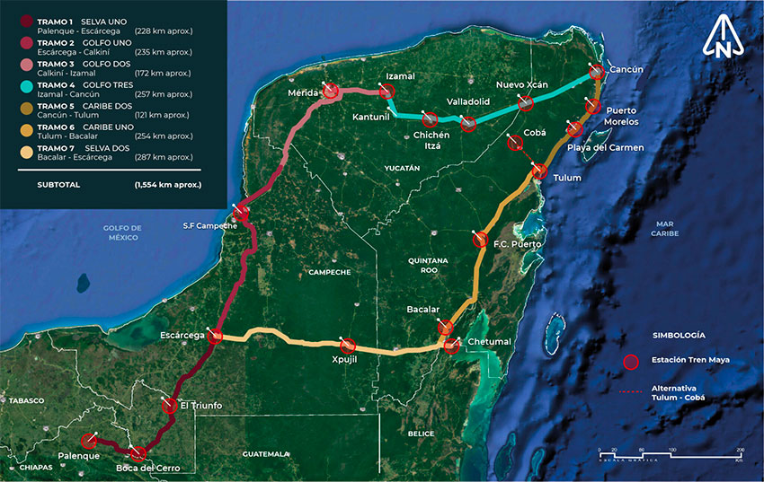 The Maya Train will run through five states in Mexico's southeast.