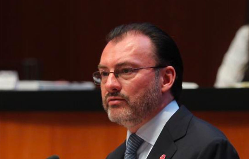 Videgaray: accused of leading a bribery scheme connected to Odebrecht.