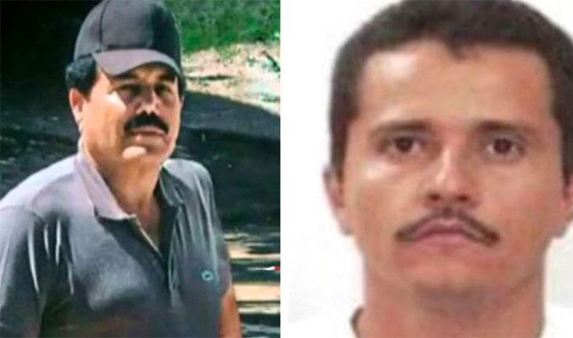Zambada, left, of the Sinaloa Cartel and Oseguera of the CJNG.