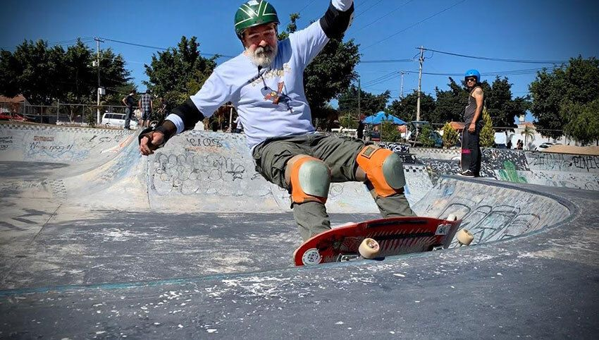 Skateboarder Beto Olso is 60 years old.