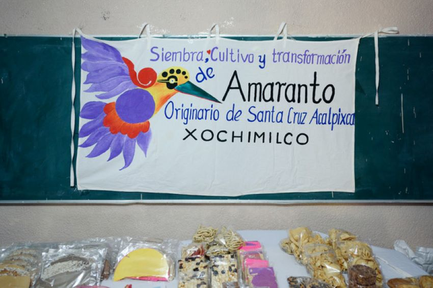 Amaranth treats Juan and Alva Rocha used to make to sell at festivals.