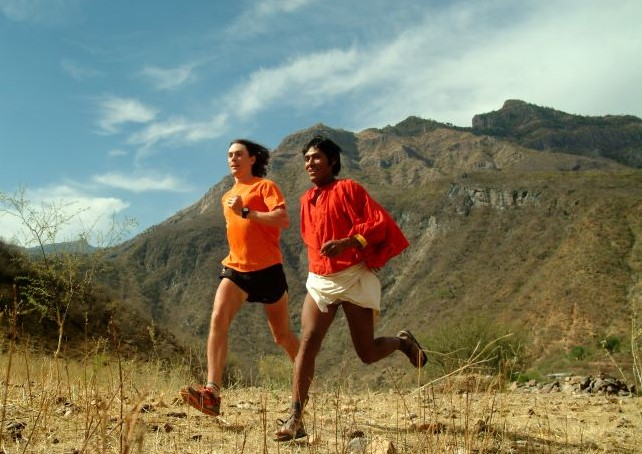 Runners in the ultramarathon in Urique, Chihuahua.