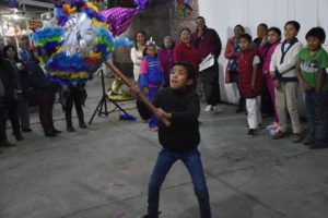 Often associated with birthdays, piñatas also feature in Christmastime posadas.