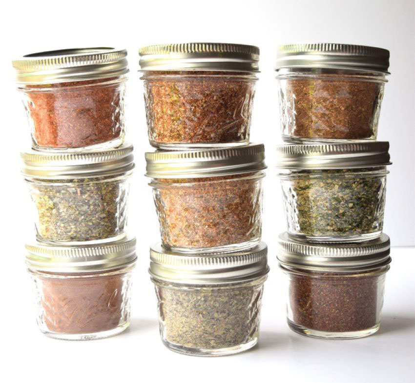 Discount stores are an economical place to find attractive spice jars.