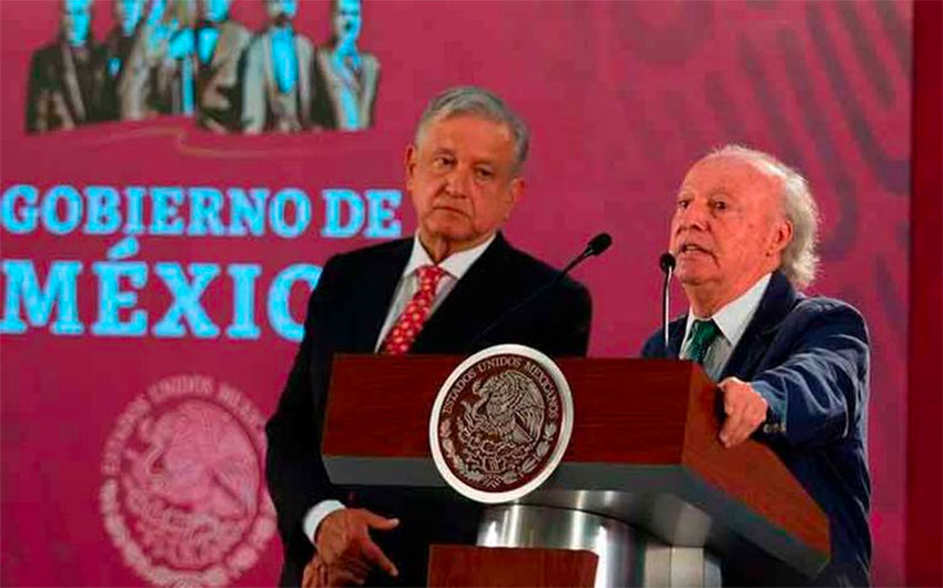 The president and Víctor Manuel Toledo