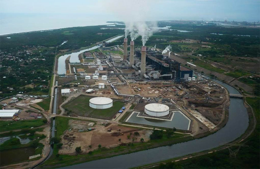The CFE plant in Petacalco.