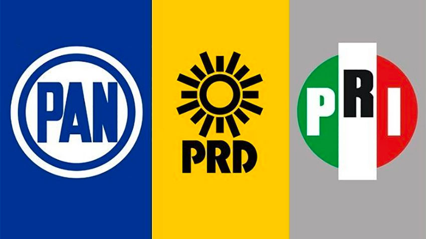 The National Action Party, the Democratic Revolution Party and the Institutional Revolutionary Party are said to be joining forces.