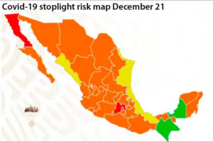 Mexico City, México state and Baja California are now red on the stoplight map.