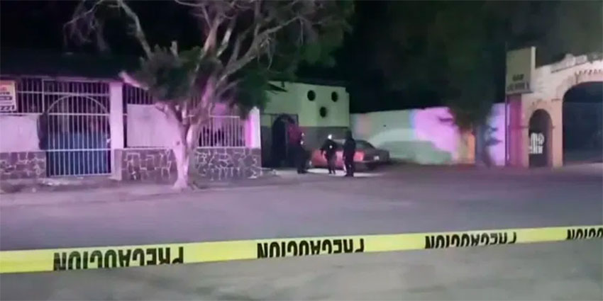 An Iguala murder scene earlier this month.
