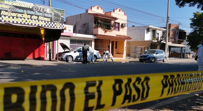 The crime scene Wednesday in Culiacán.