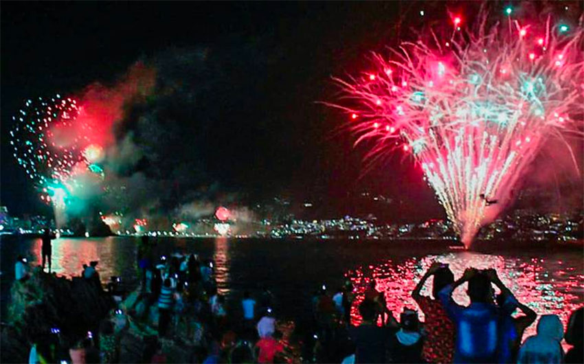 Acapulco's New Year's fireworks show has been canceled this year.