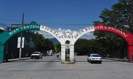 'Welcome to Iguala,' the sign reads