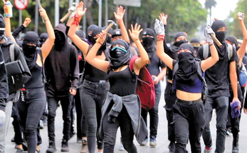 Women at a protest march earlier this year in Mexico City.