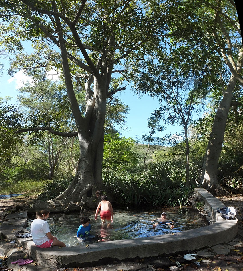 The spring-fed Pool of Paradise, located at the end of a rough road in the state of Nayarit.