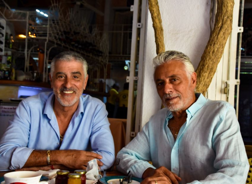 Brothers Julian, left, and Edmond Benloulou emigrated to Mexico from Canada.
