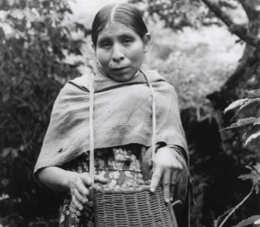A woman in the remote Oaxaca village of San José Tenango.