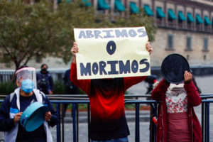Abrimos o morimos — We open or we die — has been the rallying cry of restaurants shuttered by measures to combat Covid.
