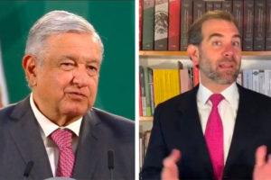 López Obrador and elections chief Córdova.