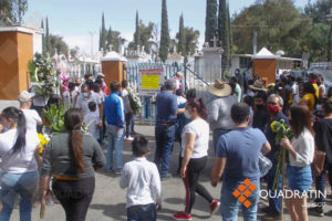 Cemeteries in Jalisco are so busy there are lineups to enter.
