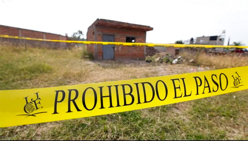 Site of the newest discovery of hidden graves in Jalisco.