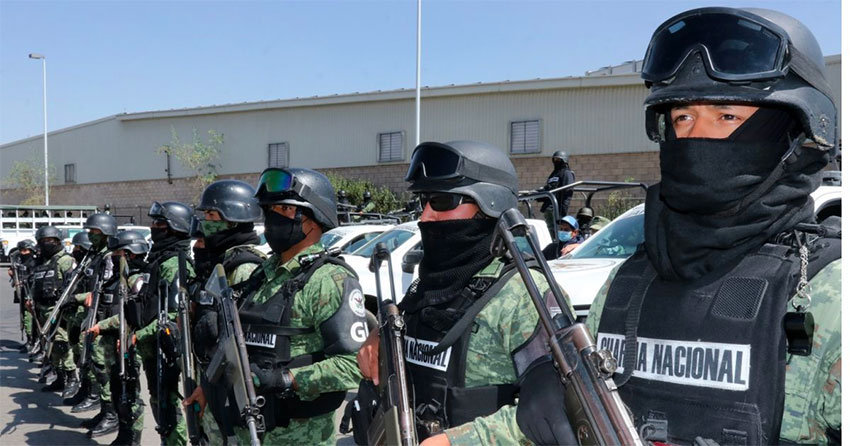 The National Guard on duty in Juventino Rosas.