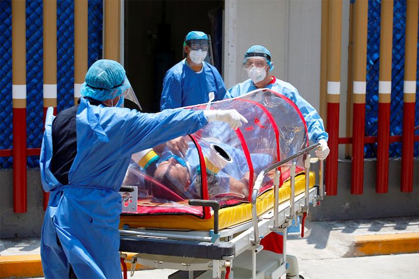 Mexico City hospitals remain under pressure.