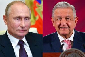 Vladimir Putin and President López Obrador