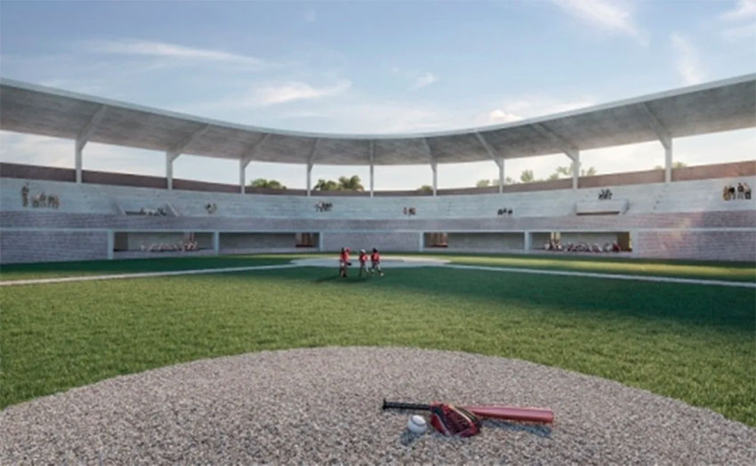The baseball stadium in Palenque that is slated for an upgrade.