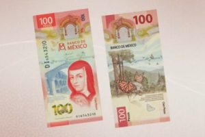Sor Juana, one of the most recognizable female historical faces in Mexico, as she appears on the latest version of the 100-peso bill.