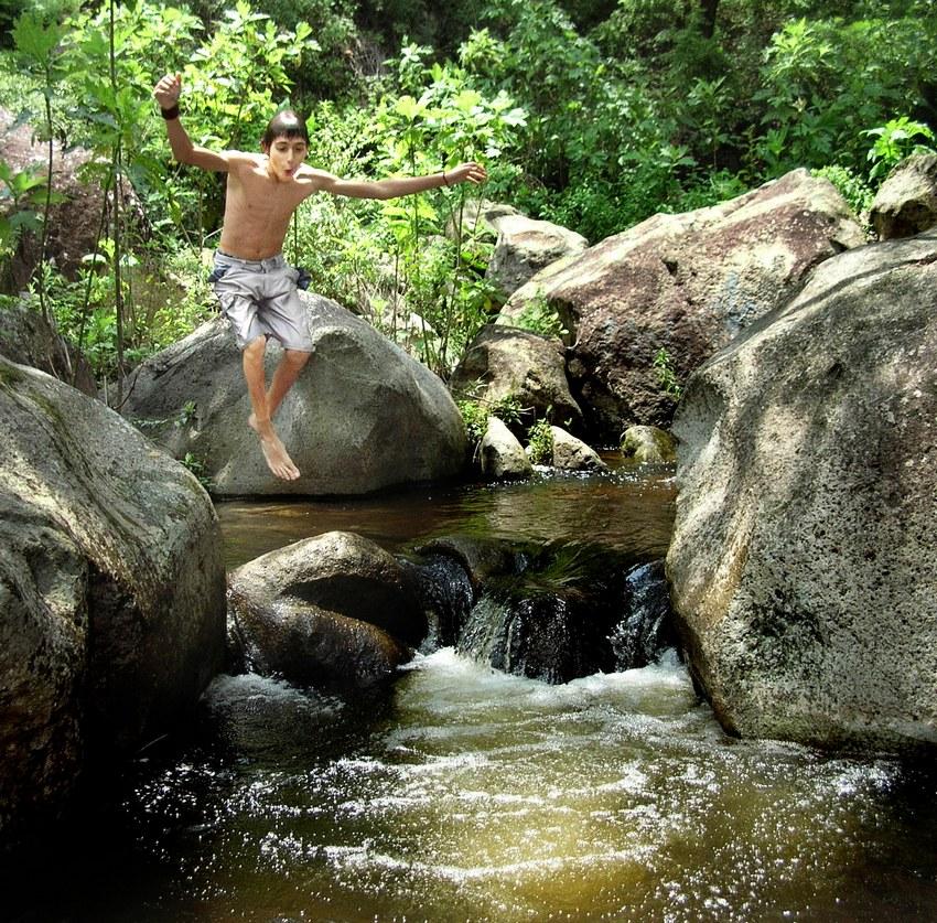 At Villa Felicidad, the waters of Río de las Ánimas are clean and refreshing.