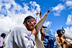 San Caralampio, a third-century saint and martyr, is revered in Comitán for protecting the population from disease. He gets a lively procession each year.