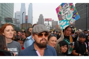 Leonardo DiCaprio at the People's Climate March in 2014.