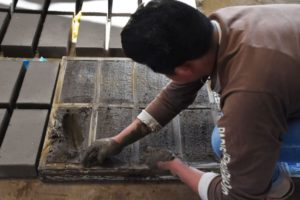 In Cholula, artisans make bricks by hand using sand, clay and soil.