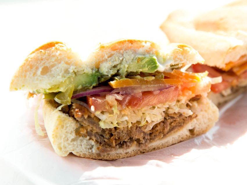 Tortas are generally made on some kind of thick white bread.