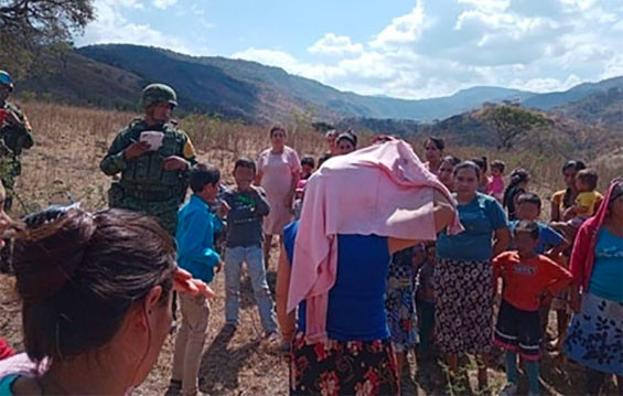 Soldiers arrived in Hacienda de Dolores after residents issued pleas for help.
