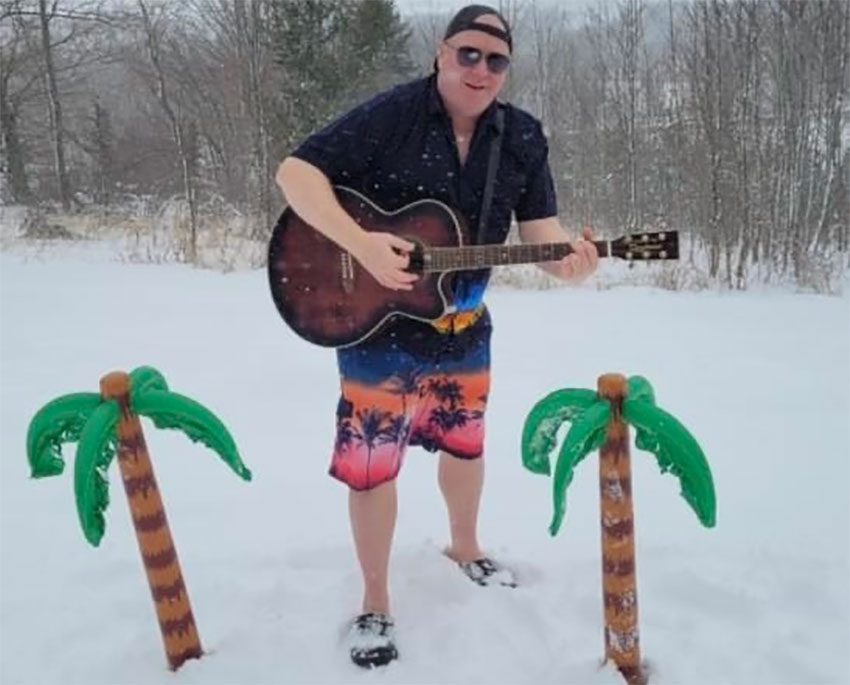 Musician Aiden McGill is a long way from Acapulco.