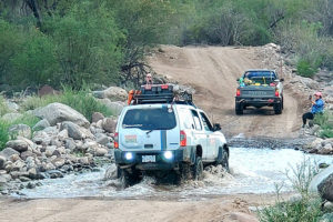 Rally racers Monday in Loreto, Baja California Sur.