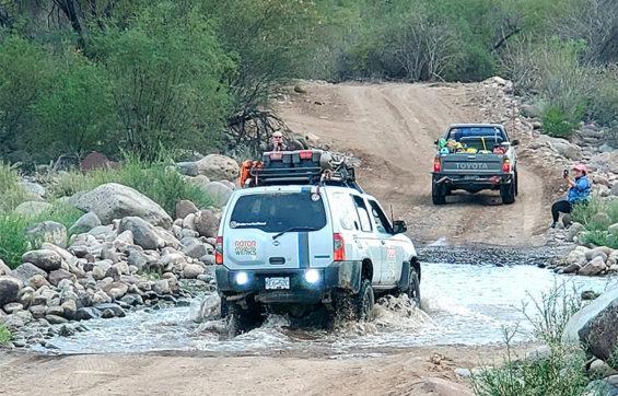 Rally racers Monday in Loreto, Baja California Sur.