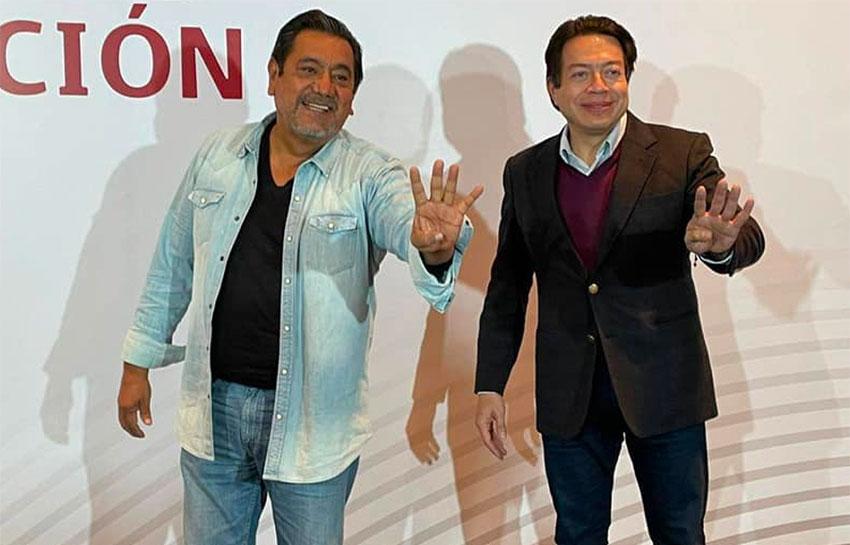 Salgado, left, has the support of Morena party leader Delgado.