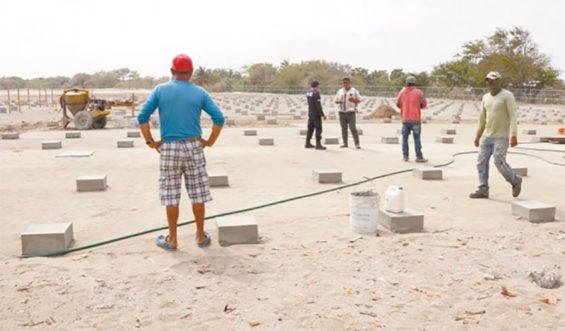 Site of the solar farm on the Oaxaca coast.