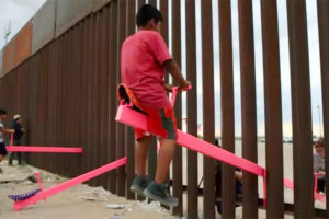 The Teeter Totter Wall art project gave people in El Paso, Texas, and Ciudad Juárez, Chihuahua, the chance to play together despite the border wall.